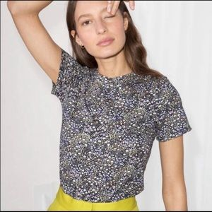 & other stories ditsy floral tee t-shirt